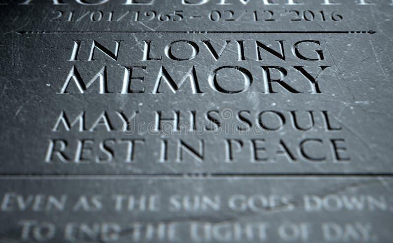 Gravestone W Kochającej pamięci royalty ilustracja