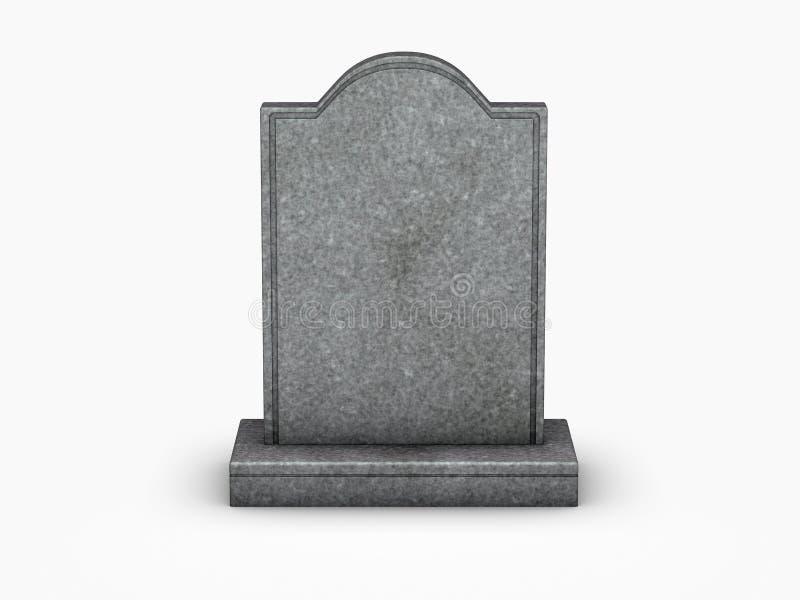 Gravestone on white background stock illustration