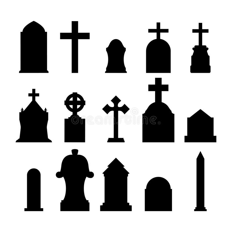 Gravestones royaltyfri illustrationer