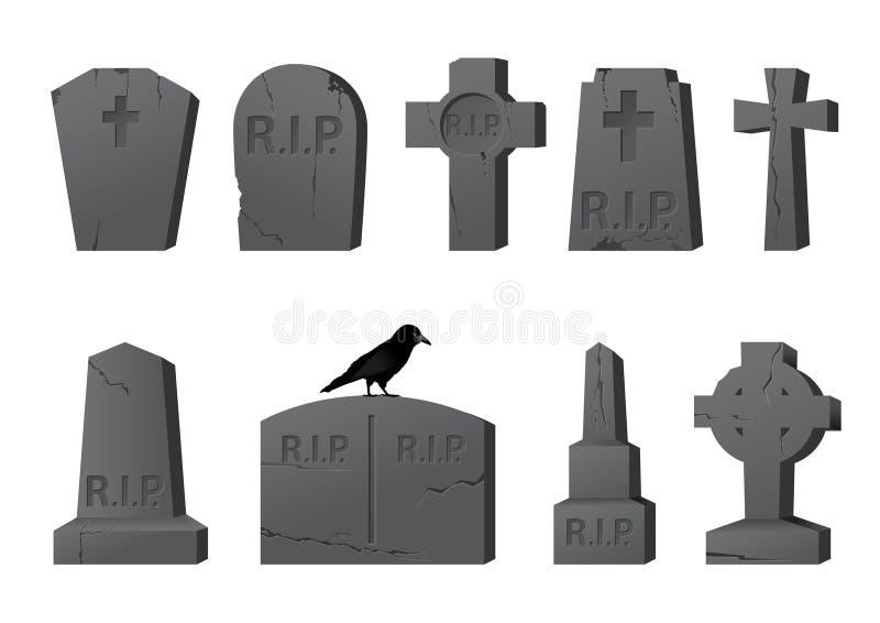 gravestones ilustracja wektor