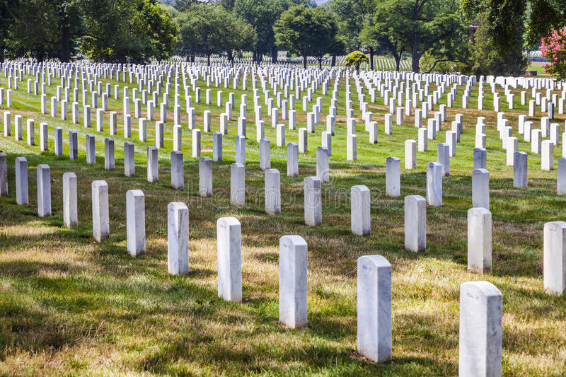 Gravestones at Arlington National Cemeterey. Gravestones at Arlington National Cemetery, a United States military cemetery in Arlington County, Virginia, across stock images