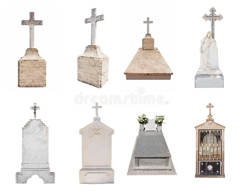 Download Gravestones Isolated On White Background Stock Photo - Image of graveyards, burial: 11633468