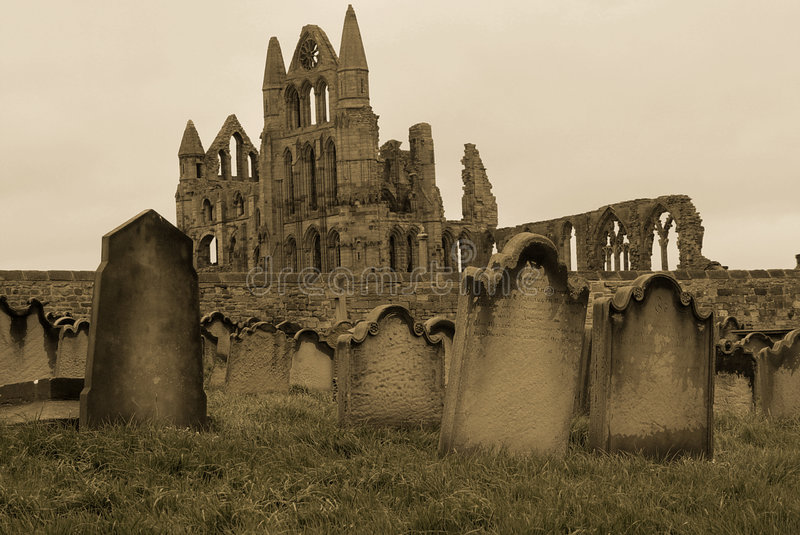 gravestones whitby стоковые фотографии rf