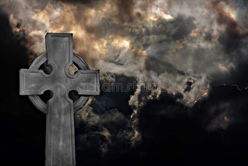 Graveyard cross royalty free stock photos