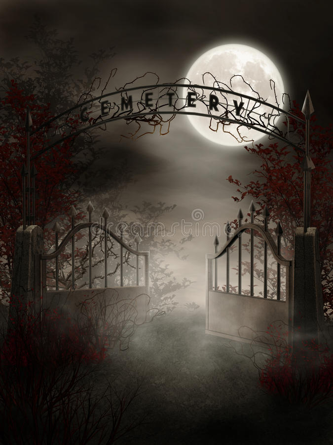Graveyard Gate Royalty Free Stock Photo