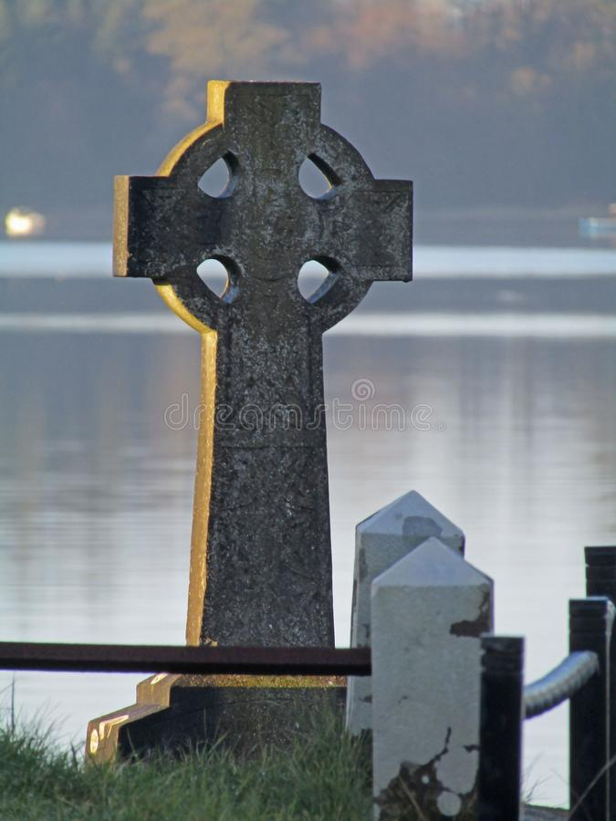 Graveyard in Northern Ireland. Headstone in a Graveyard in Northern Ireland stock image