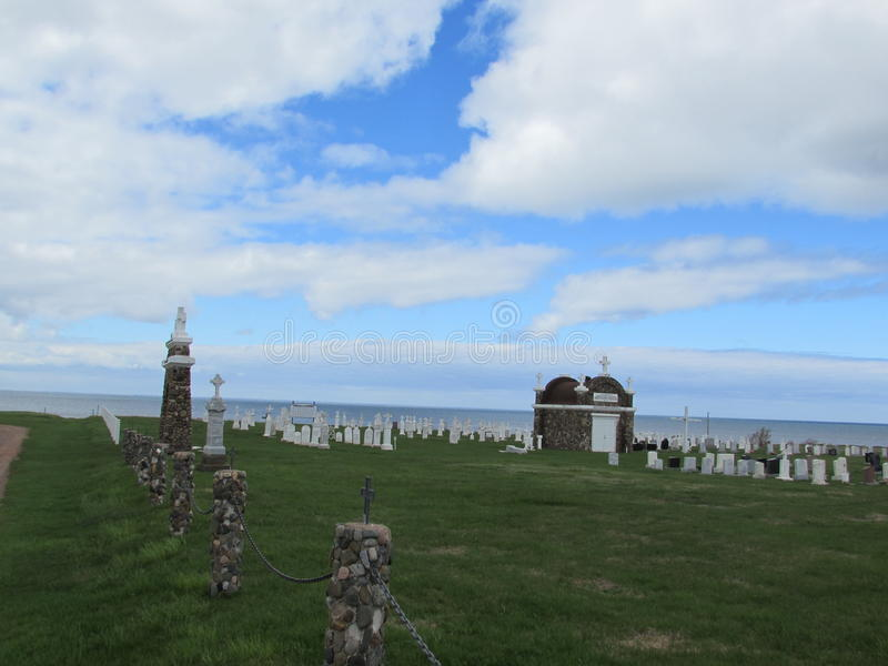 Graveyard by the ocean 2 royalty free stock images
