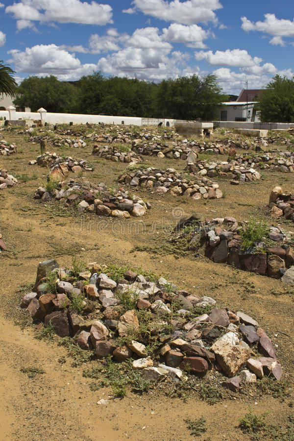Download Graveyard With Rocks On Graves Stock Image - Image: 29022601