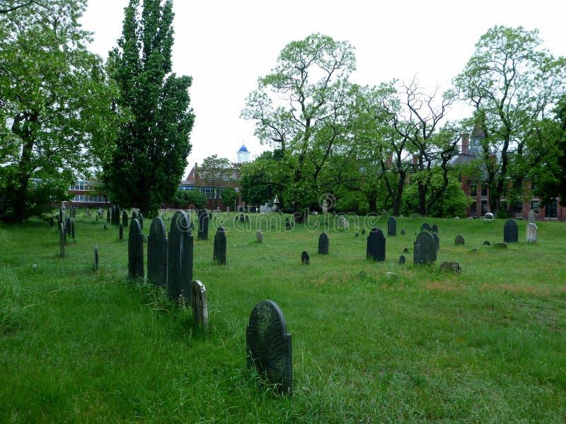 Graveyard in Salem, Masachusetts royalty free stock image