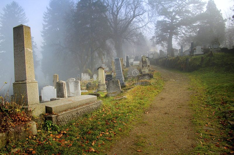 graveyard in transylvania stock photography