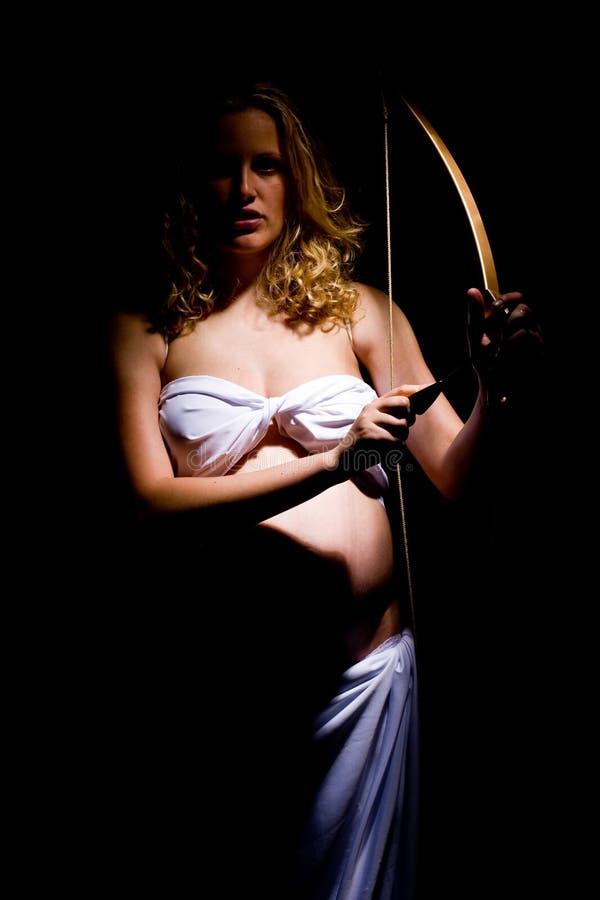 gravid ängel arkivfoto