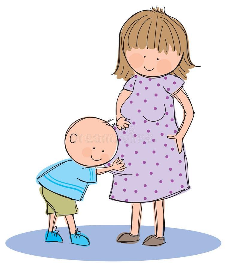 Gravid vektor illustrationer
