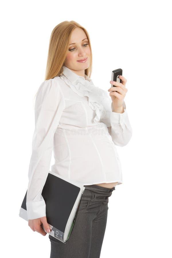 gravid affärskvinna arkivbilder