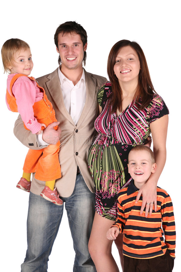 gravid barnfamilj royaltyfria foton
