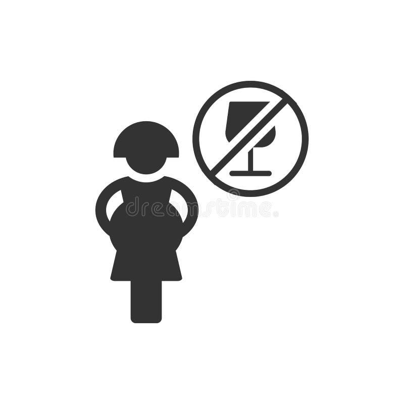 Gravid förbjuden drink, alkoholsymbol - vektor stock illustrationer
