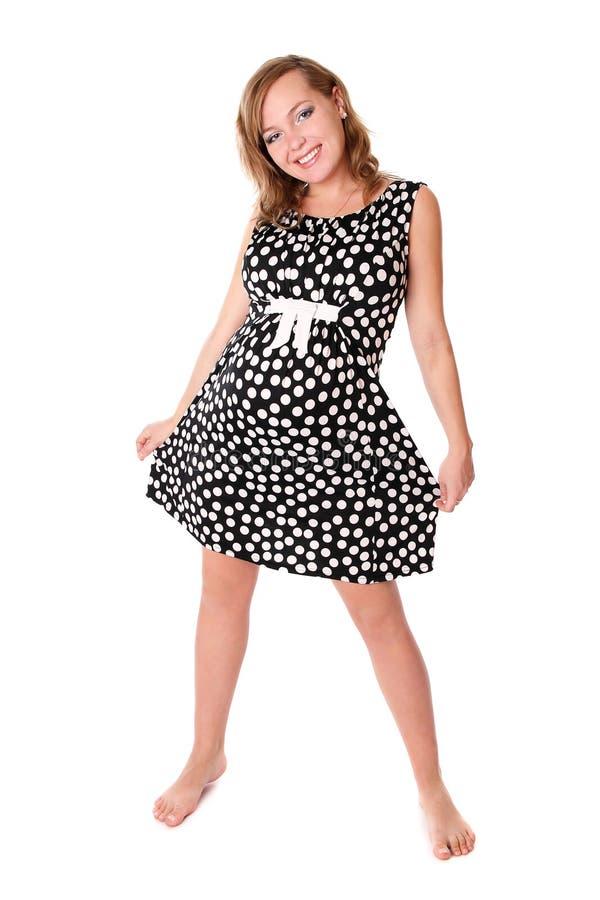 gravid klänningmom royaltyfri bild