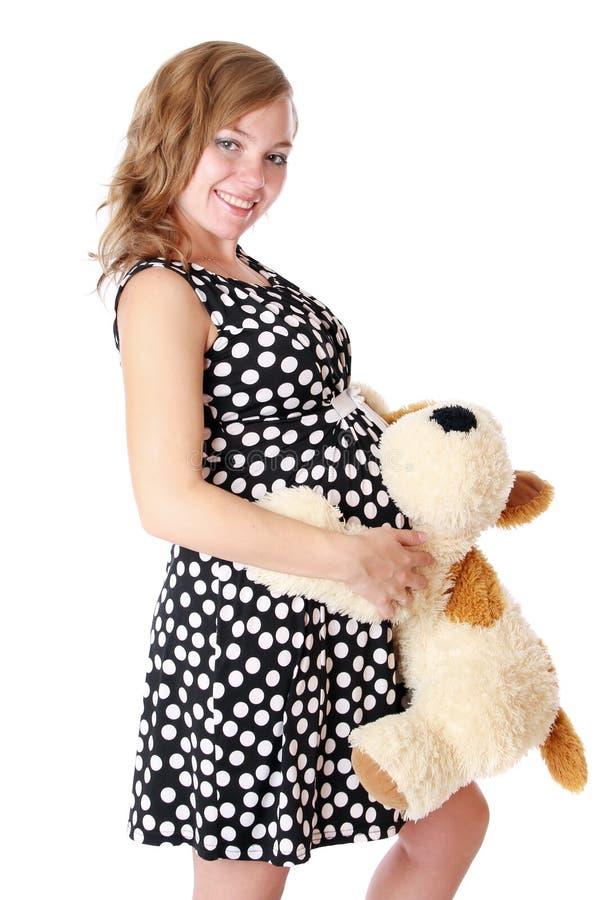 gravid klänningmom fotografering för bildbyråer