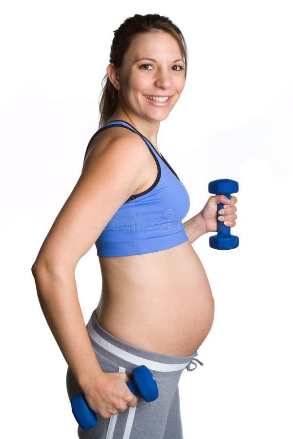gravid konditionflicka arkivfoton