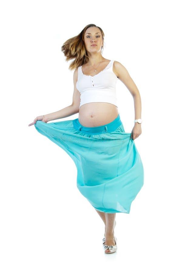 Gravid kvinnadans royaltyfria foton