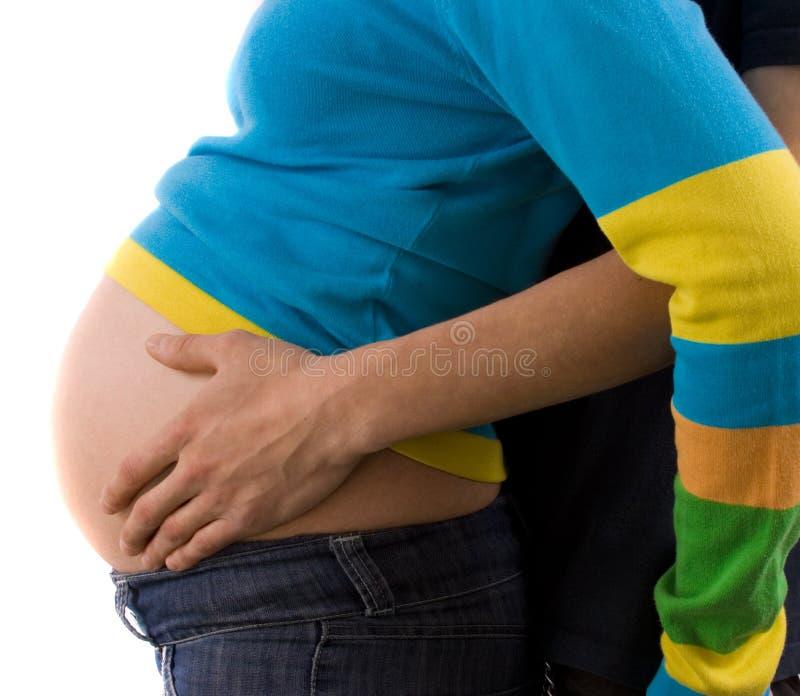 gravid tillsammans royaltyfria bilder