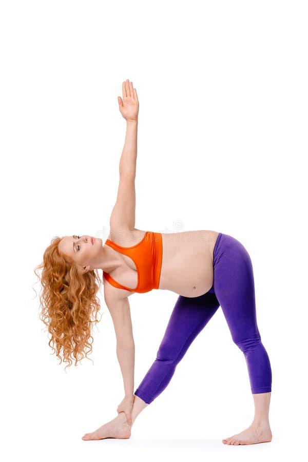 gravid yoga arkivbild