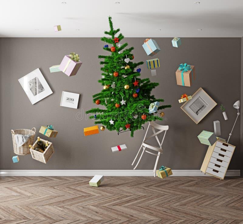 Gravidade zero do Natal ilustração do vetor