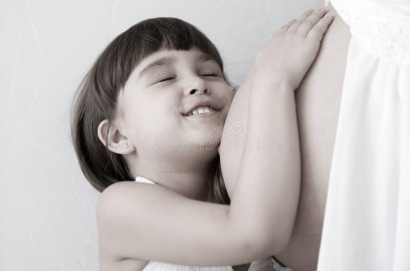 Gravidanza e bambino della madre immagini stock libere da diritti