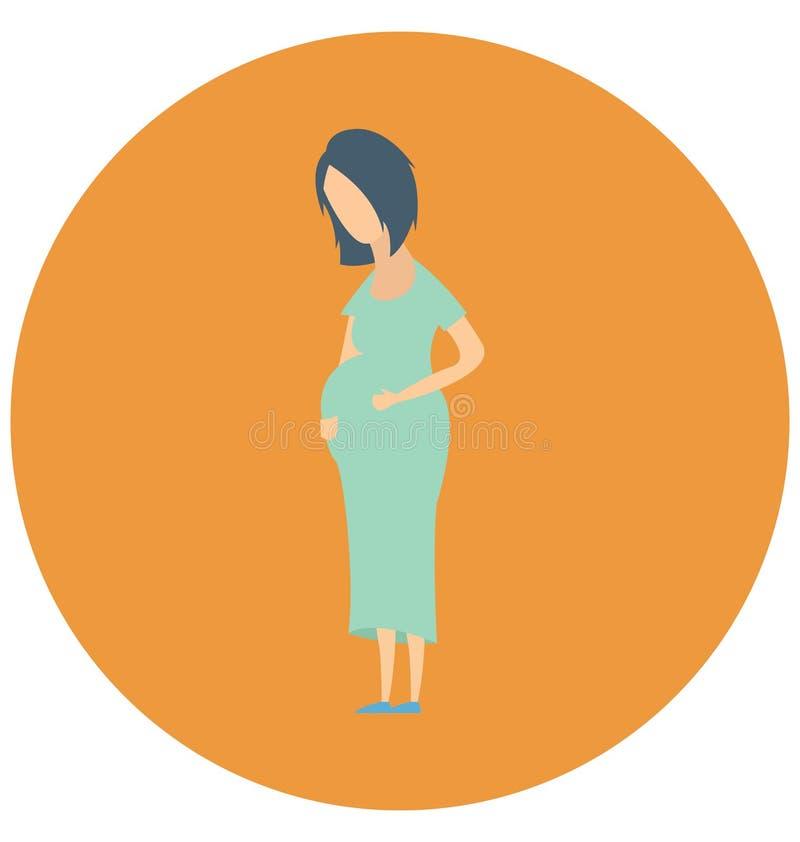 A gravidez, mãe grávida isso pode facilmente ser editada em todo o tamanho ou ser alterada ilustração stock