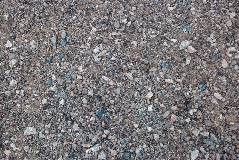 Gravier écrasé avec les puces bleues et blanches images stock