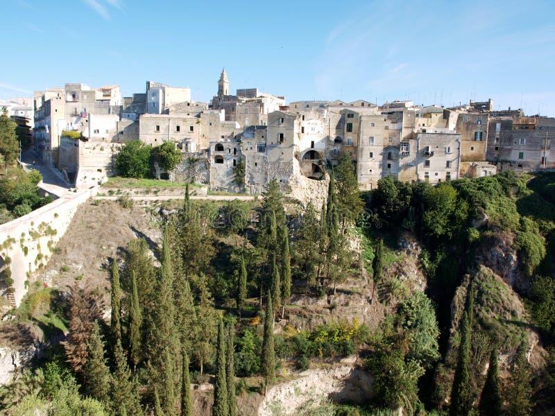 Gravina Di Puglia. Overlooking the ravine and gravina di puglia royalty free stock images
