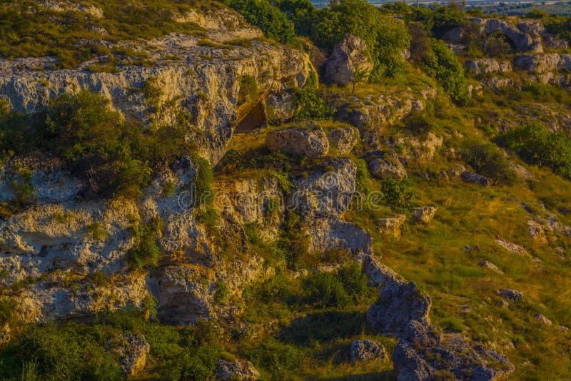 Gravina di san biagio en grottaglie arkivfoto