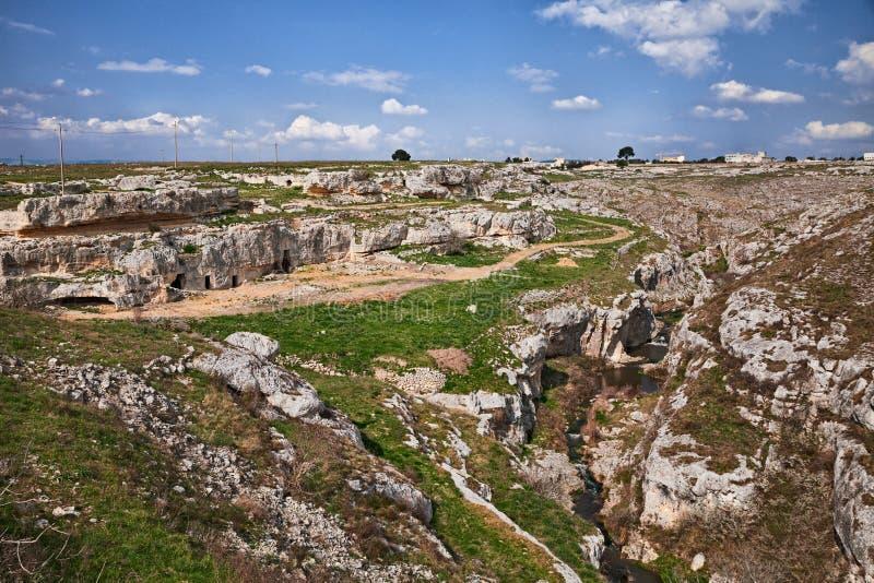 Gravina en Puglia, Bari, Italie : paysage de l'esprit de campagne photographie stock libre de droits