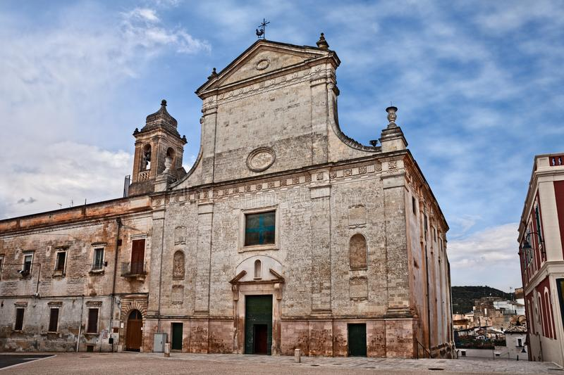 Gravina in Puglia, Bari, Italy: the ancient church of San Giovanni Battista stock photo