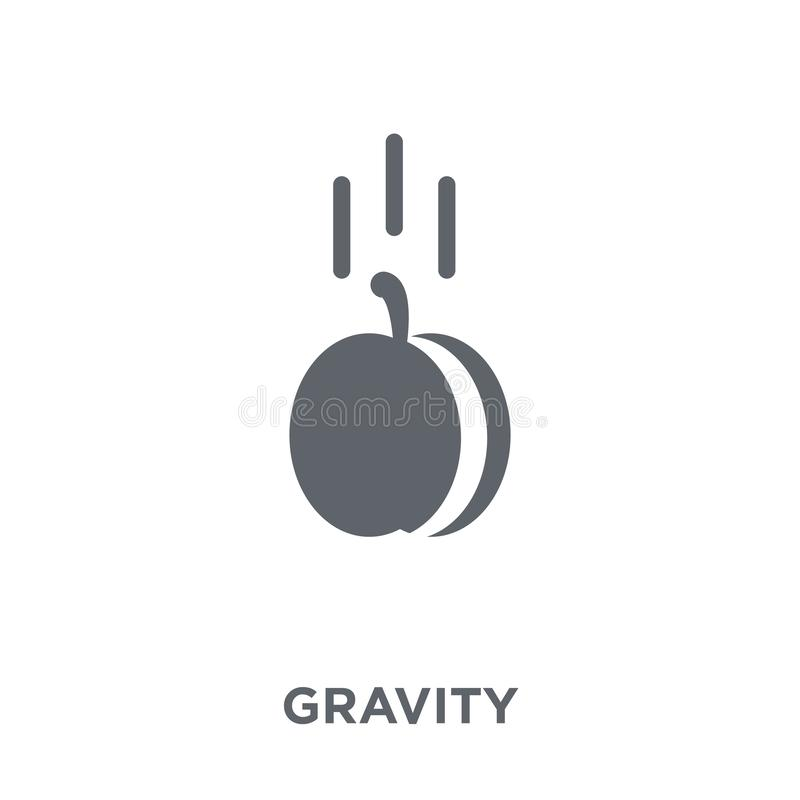Gravity icon from collection. Gravity icon. Gravity design concept from collection. Simple element vector illustration on white background stock illustration