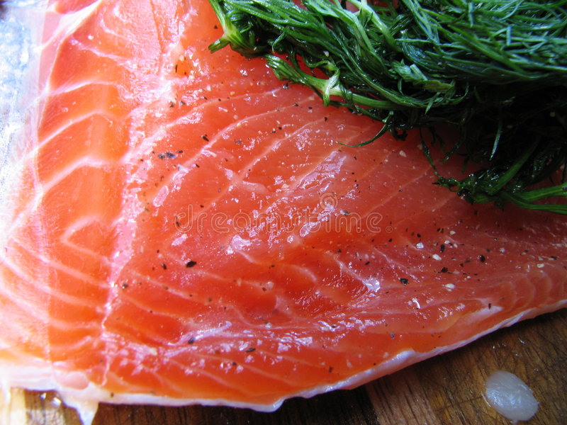 Download Gravlox curó salmones foto de archivo. Imagen de alimento - 7276672