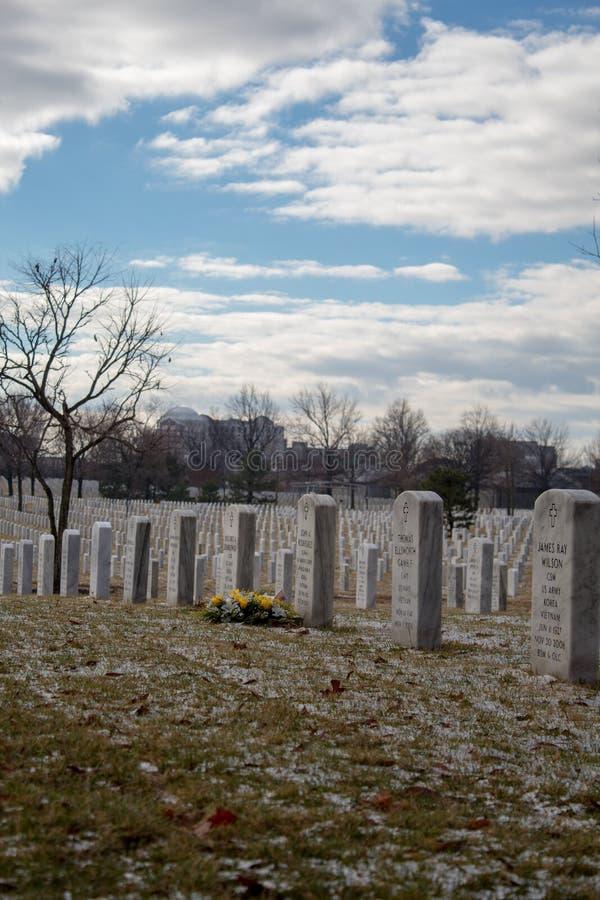 Gravstenar i Arlington 1 royaltyfri fotografi