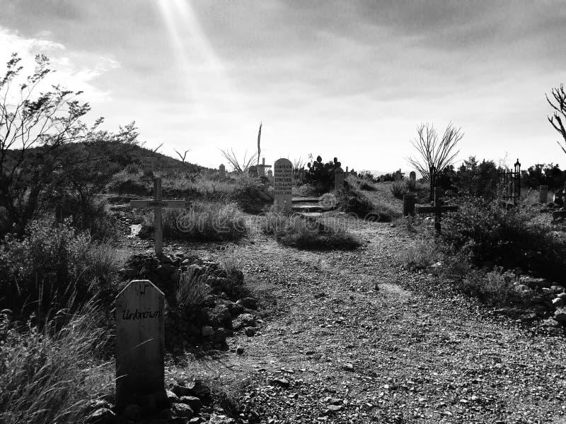 Gravstenkyrkogård royaltyfri fotografi