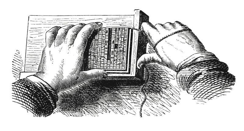 Gravura antiga Typesetting ilustração do vetor