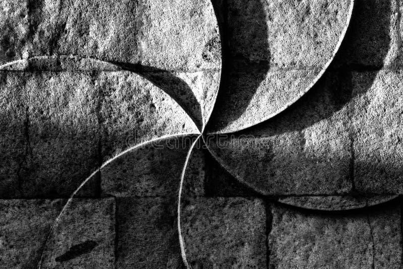 Gravura armênia antiga da parede do sinal da eternidade em uma parede de pedra imagens de stock