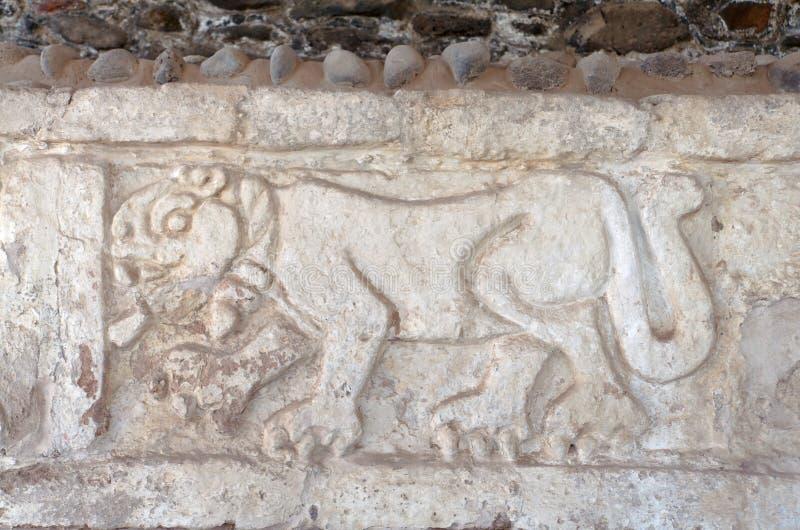Gravura do jaguar de Toltec imagens de stock royalty free