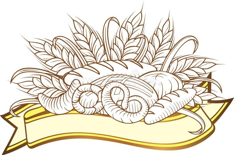 Gravuras do pão ilustração stock