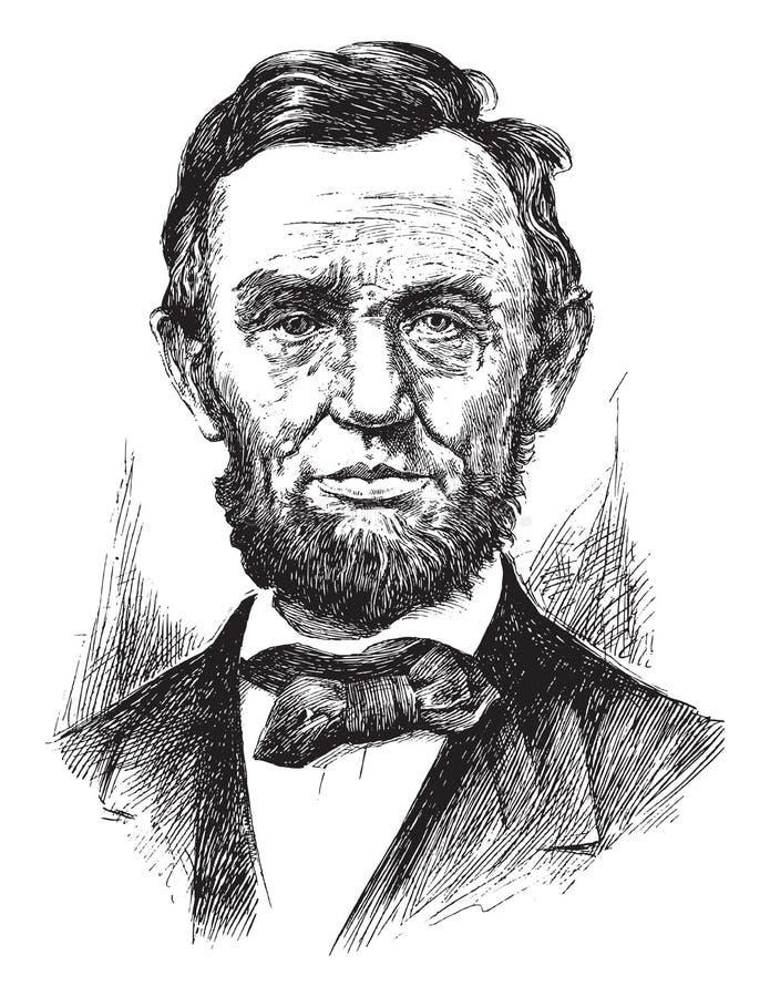 Gravure d'Abraham Lincoln photographie stock