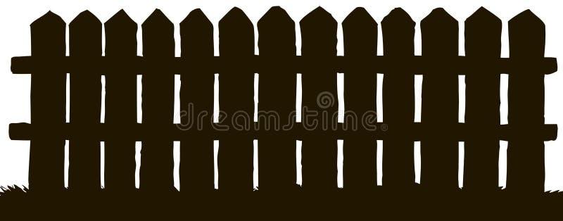 Gravure de vecteur Frontière de sécurité en bois illustration libre de droits