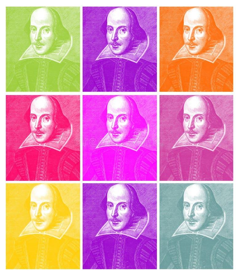 Gravure de William Shakespeare illustration de vecteur