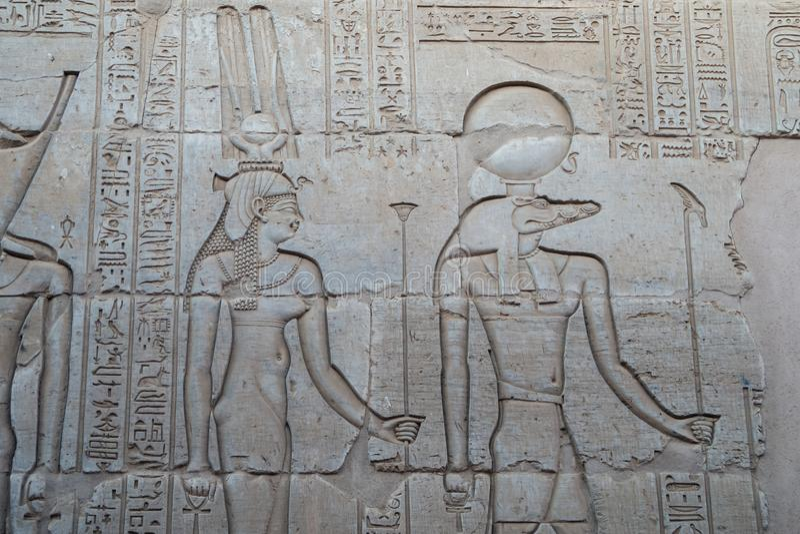 Gravure van Sobek royalty-vrije stock fotografie