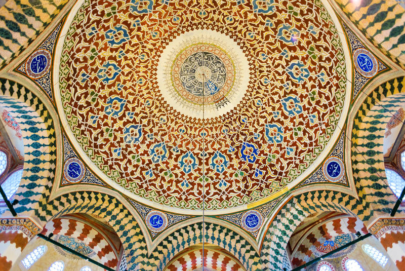 Gravvalv av den Sultan Selim II inre fotografering för bildbyråer