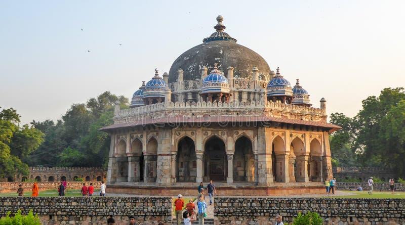 Gravvalv av Isa Khan i Delhi, Indien, Asien arkivfoton
