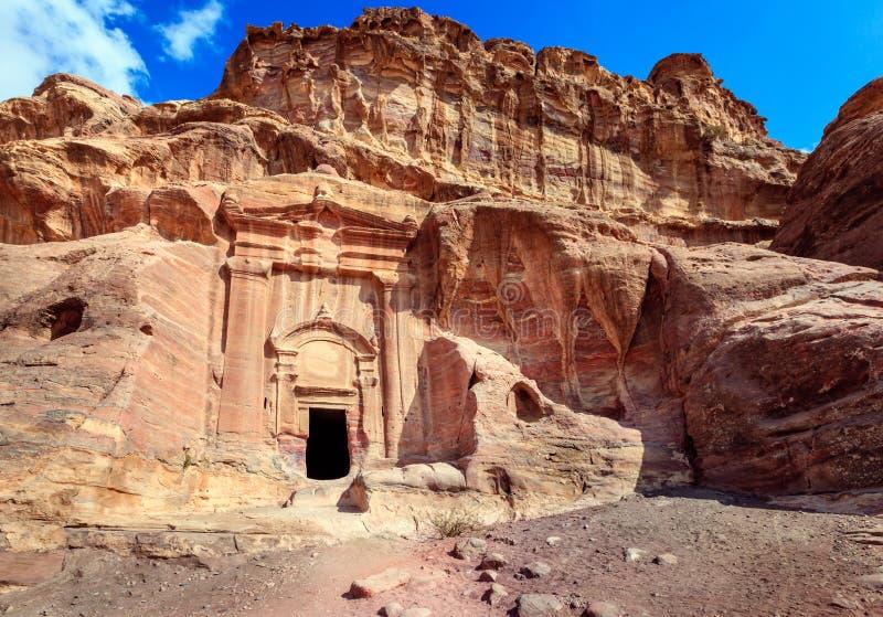 Gravvalv av Petra royaltyfri fotografi