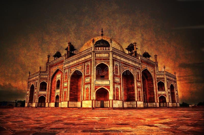 Gravvalv Delhi för Humayun ` s royaltyfria foton