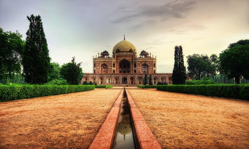 Gravvalv Delhi för Humayun ` s arkivfoto